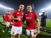 8 July 2017; Conor Murray, left, and CJ Stander of the British & Irish Lions following the Third Test match between New Zealand All Blacks and the British & Irish Lions at Eden Park in Auckland, New Zealand. Photo by Stephen McCarthy/Sportsfile