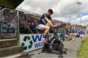 8 July 2017; Michael Quinlivan of Tipperary exercises on a fitness bike before the GAA Football All-Ireland Senior Championship Round 2B match between Cavan and Tipperary at Kingspan Breffni Park in Cavan. Photo by David Maher/Sportsfile