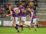 8 July 2017; Ben Brosnan of Wexford celebrates after scoring his side's first goal during the GAA Football All-Ireland Senior Championship Round 2B match between Wexford and Monaghan at Innovate Wexford Park in Co Wexford. Photo by Eóin Noonan/Sportsfile