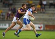 8 July 2017; Fintan Kelly of Monaghan in action against Brian Malone of Wexford during the GAA Football All-Ireland Senior Championship Round 2B match between Wexford and Monaghan at Innovate Wexford Park in Co Wexford. Photo by Eóin Noonan/Sportsfile