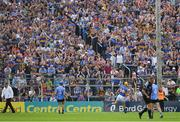 8 July 2017; Tipperary supporters and Seamus Callanan celebrate Callanan's goal, in the eighth minute, during the GAA Hurling All-Ireland Senior Championship Round 2 match between Dublin and Tipperary at Semple Stadium in Thurles, Co Tipperary. Photo by Ray McManus/Sportsfile