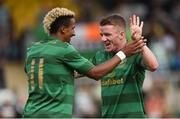 8 July 2017; Jonny Hayes, right, of Celtic celebrates with Scott Sinclair after he scores his side's 9th goal during the friendly match between Shamrock Rovers and Glasgow Celtic at Tallaght Stadium in Dublin.  Photo by David Fitzgerald/Sportsfile