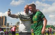 8 July 2017; Jonny Hayes of Celtic stops for a photo with a fan following the friendly match between Shamrock Rovers and Glasgow Celtic at Tallaght Stadium in Dublin.  Photo by David Fitzgerald/Sportsfile