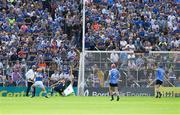 8 July 2017; Dublin goalkeeper Conor Dooley saves at the feet of Seamus Callanan of Tipperary in the 33rd minute of the GAA Hurling All-Ireland Senior Championship Round 2 match between Dublin and Tipperary at Semple Stadium in Thurles, Co Tipperary. Photo by Ray McManus/Sportsfile