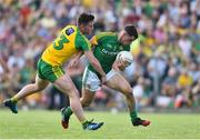 8 July 2017; Donal Keogan of Meath in action against Patrick McBrearty of Donegal during the GAA Football All-Ireland Senior Championship Round 3A match between Meath and Donegal at Páirc Tailteann in Navan, Co Meath Photo by David Maher/Sportsfile