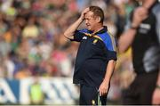 8 July 2017; Clare manager Colm Collins reacts during the GAA Football All-Ireland Senior Championship Round 3A match between Clare and Mayo at Cusack Park in Ennis, Co Clare. Photo by Diarmuid Greene/Sportsfile