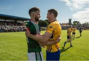 8 July 2017; Aidan O'Shea of Mayo and Gary Brennan of Clare in conversation after the GAA Football All-Ireland Senior Championship Round 3A match between Clare and Mayo at Cusack Park in Ennis, Co Clare. Photo by Diarmuid Greene/Sportsfile