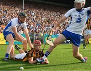8 July 2017; Cillian Buckley of Kilkenny in action against Kevin Moran, left, and Shane Bennett of Waterford during the GAA Hurling All-Ireland Senior Championship Round 2 match between Waterford and Kilkenny at Semple Stadium in Thurles, Co Tipperary. Photo by Ray McManus/Sportsfile