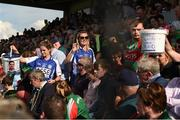 8 July 2017; Donations are collected by Breaffy GAA club members during half-time in aid of the David Gavin Emergency Fund Collection at the GAA Football All-Ireland Senior Championship Round 3A match between Clare and Mayo at Cusack Park in Ennis, Co Clare. Photo by Diarmuid Greene/Sportsfile