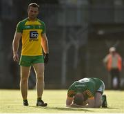 8 July 2017; A dejected Bryan Menton of Meath as Neil McGee of Donegal looks on at the end of the GAA Football All-Ireland Senior Championship Round 3A match between Meath and Donegal at Páirc Tailteann in Navan, Co Meath. Photo by David Maher/Sportsfile