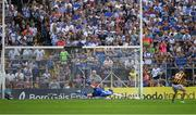 8 July 2017; TJ Reid of Kilkenny shoots past the Waterford goalkeeper Stephen O'Keeffe to score a goal, from the penalty spot, in the 33rd minute during the GAA Hurling All-Ireland Senior Championship Round 2 match between Waterford and Kilkenny at Semple Stadium in Thurles, Co Tipperary. Photo by Ray McManus/Sportsfile