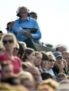 8 July 2017; RTE GAA pundit Pat Spillane during the GAA Football All-Ireland Senior Championship Round 3A match between Clare and Mayo at Cusack Park in Ennis, Co Clare. Photo by Diarmuid Greene/Sportsfile