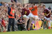 8 July 2017; Mark McCallon of Westmeath in action against Aidan Forker of Armagh during the GAA Football All-Ireland Senior Championship Round 2B match between Westmeath and Armagh at TEG Cusack Park in Mullingar, Co Westmeath. Photo by Piaras Ó Mídheach/Sportsfile