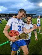 8 July 2017; Tadhg de Burca of Waterford celebrates with the team's Performance Analyst Donie Mac Murchu after the GAA Hurling All-Ireland Senior Championship Round 2 match between Waterford and Kilkenny at Semple Stadium in Thurles, Co Tipperary. Photo by Ray McManus/Sportsfile