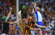 8 July 2017; Kilkenny goalkeeper Eoin Murphy makes a save from team-mates Cillian Buckley and Joe Lyng and  Michael Walsh of Waterford the GAA Hurling All-Ireland Senior Championship Round 2 match between Waterford and Kilkenny at Semple Stadium in Thurles, Co Tipperary. Photo by Brendan Moran/Sportsfile