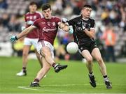 9 July 2017; Evan Murphy of Galway in action against of Evan Lavin of Sligo during the Electric Ireland Connacht GAA Football Minor Championship Final between Galway and Sligo at Pearse Stadium in Salthill, Galway. Photo by David Maher/Sportsfile