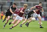 9 July 2017; Conor Campbell of Galway in action against Ben Tuohy of Sligo during the Electric Ireland Connacht GAA Football Minor Championship Final between Galway and Sligo at Pearse Stadium in Salthill, Galway. Photo by David Maher/Sportsfile