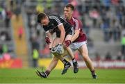 9 July 2017; Josh Ellis of Sligo is tackled by Darragh Silke of Galway during the Electric Ireland Connacht GAA Football Minor Championship Final between Galway and Sligo at Pearse Stadium in Galway. Photo by Ramsey Cardy/Sportsfile