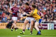 9 July 2017; Liam Silke of Galway is tackled by Brian Stack of Roscommon during the Connacht GAA Football Senior Championship Final match between Galway and Roscommon at Pearse Stadium in Galway. Photo by Ramsey Cardy/Sportsfile