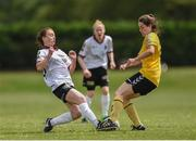 9 July 2017; Rachel Baynes of Galway WFC in action against Emma Boyle of Kilkenny United WFC during the Continental Tyres Women's National League match between Kilkenny United WFC and Galway WFC at United Park, Thomastown, Co. Kilkenny. Photo by Seb Daly/Sportsfile