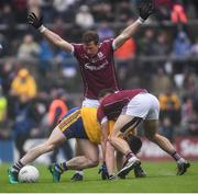 9 July 2017; Ciaran Murtagh of Roscommon is tackled by Eoghan Kerin of Galway during the Connacht GAA Football Senior Championship Final match between Galway and Roscommon at Pearse Stadium in Galway. Photo by Ramsey Cardy/Sportsfile