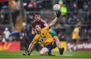 9 July 2017; Brian Stack of Roscommon in action against Eoghan Kerin of Galway during the Connacht GAA Football Senior Championship Final match between Galway and Roscommon at Pearse Stadium in Galway. Photo by Ramsey Cardy/Sportsfile