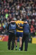 9 July 2017; Diarmuid Murtagh of Roscommon is helped off the pitch by medical staff during the Connacht GAA Football Senior Championship Final match between Galway and Roscommon at Pearse Stadium in Salthill, Galway. Photo by David Maher/Sportsfile