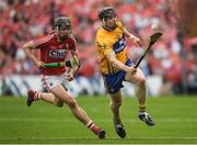 9 July 2017; Tony Kelly of Clare in action against Darragh Fitzgibbon of Cork during the Munster GAA Hurling Senior Championship Final match between Clare and Cork at Semple Stadium in Thurles, Co Tipperary. Photo by Brendan Moran/Sportsfile