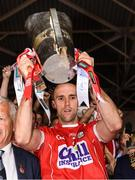 9 July 2017; The Cork captain Stephen McDonnell lifts the cup after the Munster GAA Hurling Senior Championship Final match between Clare and Cork at Semple Stadium in Thurles, Co Tipperary. Photo by Ray McManus/Sportsfile