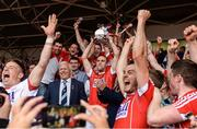 9 July 2017; Cork captain Stephen McDonnell lifts the cup after the Munster GAA Hurling Senior Championship Final match between Clare and Cork at Semple Stadium in Thurles, Co Tipperary. Photo by Piaras Ó Mídheach/Sportsfile
