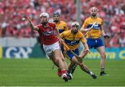 9 July 2017; Luke Meade of Cork in action against Conor McGrath of Clare during the Munster GAA Hurling Senior Championship Final match between Clare and Cork at Semple Stadium in Thurles, Co Tipperary. Photo by Brendan Moran/Sportsfile