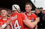 9 July 2017; Conor Lehane, right, and Patrick Horgan of Cork celebrate after the Munster GAA Hurling Senior Championship Final match between Clare and Cork at Semple Stadium in Thurles, Co Tipperary. Photo by Piaras Ó Mídheach/Sportsfile