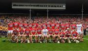 9 July 2017; The Cork squad before the Munster GAA Hurling Senior Championship Final match between Clare and Cork at Semple Stadium in Thurles, Co Tipperary. Photo by Ray McManus/Sportsfile