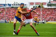 9 July 2017; Stephen McDonnell of Cork is tackled by Shane O'Donnell of Clare during the Munster GAA Hurling Senior Championship Final match between Clare and Cork at Semple Stadium in Thurles, Co Tipperary. Photo by Brendan Moran/Sportsfile