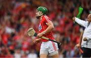 9 July 2017; Alan Cadogan of Cork celebrates scoring a goal in the 13th minute during the Munster GAA Hurling Senior Championship Final match between Clare and Cork at Semple Stadium in Thurles, Co Tipperary. Photo by Ray McManus/Sportsfile