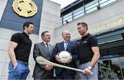 10 July 2017; Seán Cavanagh and Eddie Brennan in Croke Park to launch the 'EirGrid Moments in Time' campaign, as part of its timing partnership with the GAA. The campaign will culminate with a club in each province winning a digital clock and scoreboard. To enter post an image of your favourite GAA moment of the championship on Instagram or Twitter using AA. More information & T&C's available at www.eirgridgroup.com. Pictured at the launch are, from left, Tyrone footballer Sean Cavanagh, Peter McKenna, Commercial Manager of the GAA, Fintan Slye, CEO, EirGrid and former Kilkenny hurler and Kilkennny U21 manager Eddie Brennan. Photo by Brendan Moran/Sportsfile