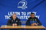 11 July 2017; Richardt Strauss, left, and Isa Nacewa speaking to young players during the Bank of Ireland Leinster Rugby Summer Camp at Balbriggan RFC in Dublin. Photo by Eóin Noonan/Sportsfile