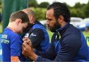 11 July 2017; Isa Nacewa signing autographs for young players during the Bank of Ireland Leinster Rugby Summer Camp at Balbriggan RFC in Dublin. Photo by Eóin Noonan/Sportsfile