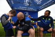 11 July 2017; Richardt Strauss, left and Isa Nacewa sign autographs for young players durin the Bank of Ireland Leinster Rugby Summer Camp at Balbriggan RFC in Dublin. Photo by Eóin Noonan/Sportsfile