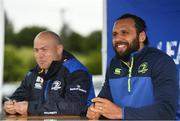 11 July 2017; Isa Nacewa, right, and Richardt Strauss speaking to young players during the Bank of Ireland Leinster Rugby Summer Camp at Balbriggan RFC in Dublin. Photo by Eóin Noonan/Sportsfile
