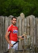 11 July 2017; In attendance during the GAA Hurling All Ireland Senior Championship Series National Launch at the Irish National Heritage Park, in Co. Wexford is Mark Ellis of Cork with the Liam MacCarthy Cup. Photo by Brendan Moran/Sportsfile