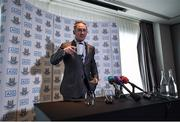 12 July 2017; Dublin manager Jim Gavin prior to a press conference at the Gibson Hotel in Dublin. Photo by Seb Daly/Sportsfile