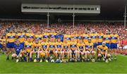 9 July 2017; The Clare squad before the Munster GAA Hurling Senior Championship Final match between Clare and Cork at Semple Stadium in Thurles, Co Tipperary. Photo by Ray McManus/Sportsfile
