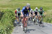 12 July 2017; Eoghan McLoughlin of Connacht Team leads the peloton on the category one climb of Castle Hill during Stage 2 of the Scott Junior Tour 2017 at Doonagore, Co. Clare. Photo by Stephen McMahon/Sportsfile