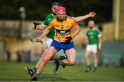 12 July 2017; David Fitzgerald of Clare in action against Peter Casey of Limerick during the Bord Gais Energy Munster GAA Hurling Under 21 Championship Semi-Final match between Limerick and Clare at the Gaelic Grounds in Limerick. Photo by Brendan Moran/Sportsfile