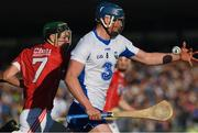 13 July 2017; Conor Prunty of Waterford in action against Mark Coleman of Cork during the Bord Gais Energy Munster GAA Hurling Under 21 Championship Semi-Final match between Waterford and Cork at Walsh Park in Waterford. Photo by Ray McManus/Sportsfile