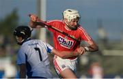 13 July 2017; Tim O'Mahony of Cork in action against Callum Lyons of Waterford during the Bord Gais Energy Munster GAA Hurling Under 21 Championship Semi-Final match between Waterford and Cork at Walsh Park in Waterford. Photo by Ray McManus/Sportsfile