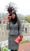 14 March 2012; Lystra Adams, from Staffordshire, England, in attendance at the Cheltenham Festival. Cheltenham Racing Festival, Prestbury Park, Cheltenham, England. Picture credit: Matt Browne / SPORTSFILE