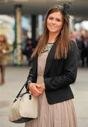 14 March 2012; Emily Sweeney, from Swords, Dublin, in attendance at the Cheltenham Festival. Cheltenham Racing Festival, Prestbury Park, Cheltenham, England. Picture credit: Brendan Moran / SPORTSFILE