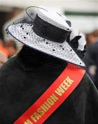 14 March 2012; A hat on view during Ladies Day at the Cheltenham Festival. Cheltenham Racing Festival, Prestbury Park, Cheltenham, England. Picture credit: Brendan Moran / SPORTSFILE